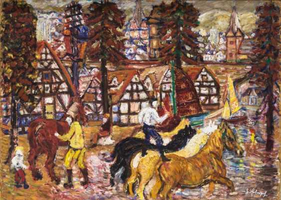 "SCHOPF, GUSTAV GEORG (1899-1986), ""circus rider in the village"" - photo 1"