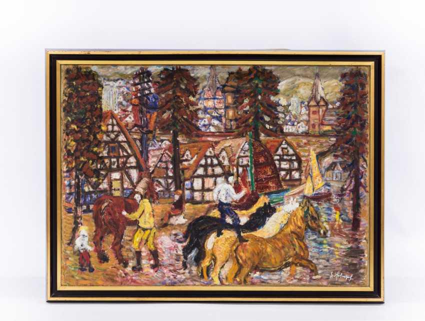 "SCHOPF, GUSTAV GEORG (1899-1986), ""circus rider in the village"" - photo 2"