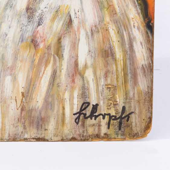 "SCHOPF, GUSTAV GEORosegold (1899-1986), ""sword-bearers with the aftermath of"", - photo 2"
