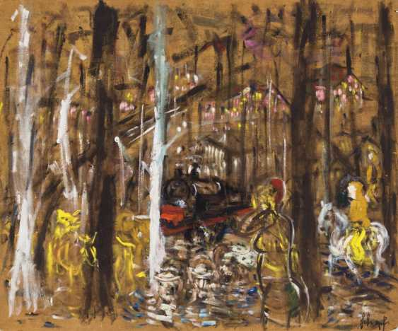"SCHOPF, GUSTAV GEORosegold (1899-1986), ""sword-bearers with the aftermath of"", - photo 3"