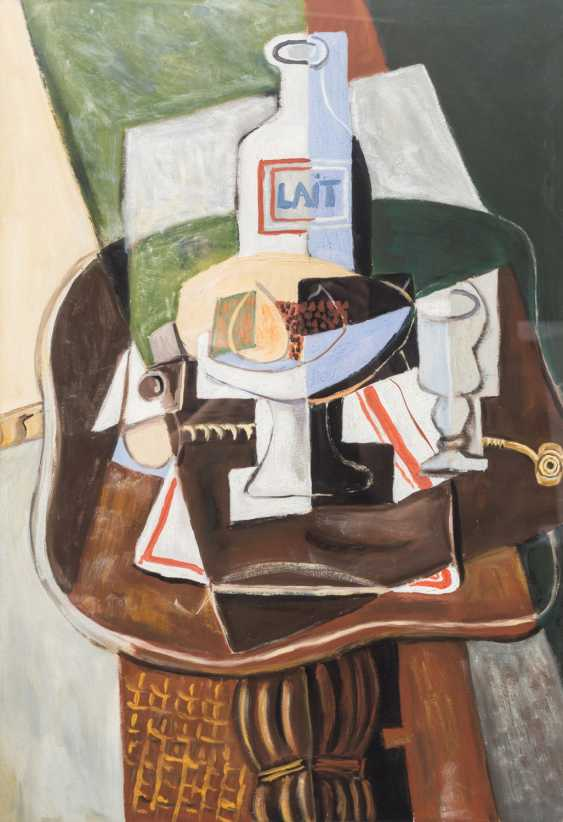 "KUBIST of the 20th century, probably France, ""still life with milk bottle"", - photo 1"