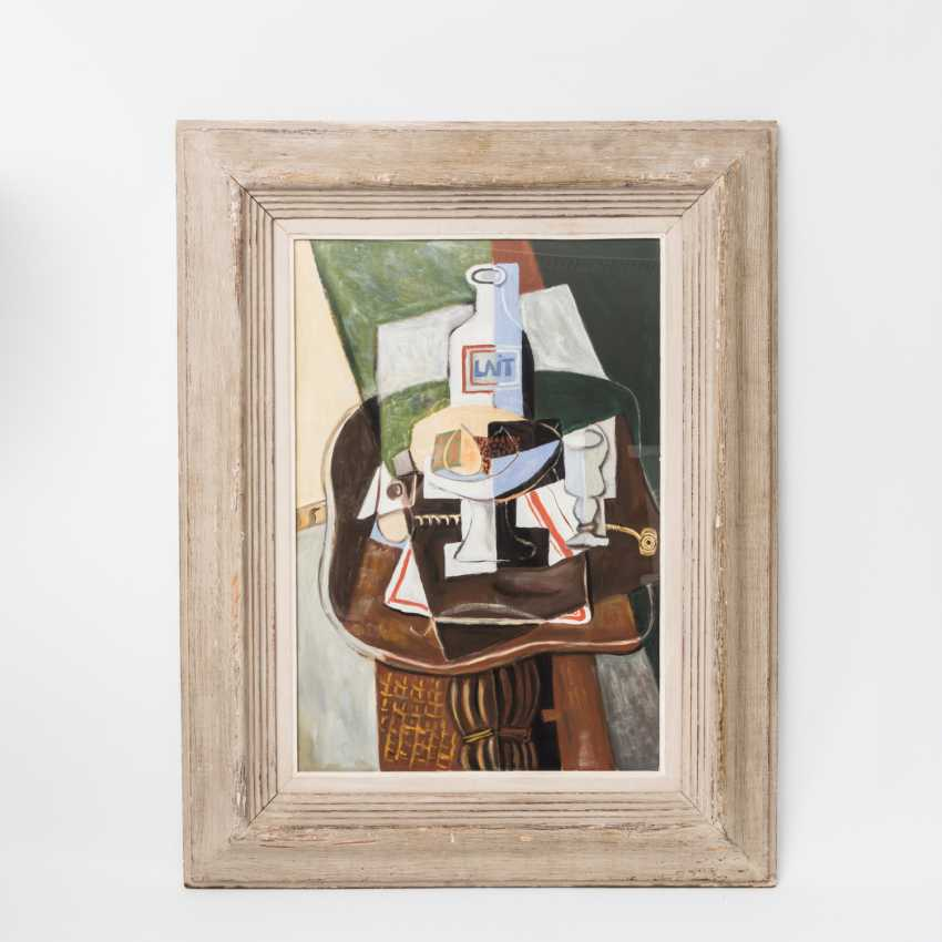 "KUBIST of the 20th century, probably France, ""still life with milk bottle"", - photo 2"