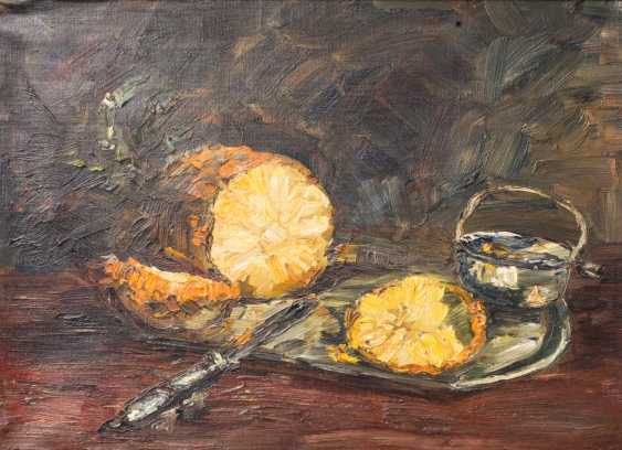 "PAINTER/20. Century, ""still life with pineapple"", - photo 1"