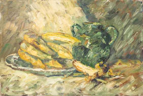 """PAINTER/20. Century, """"still life with bananas and a green Vase"""", - photo 1"""