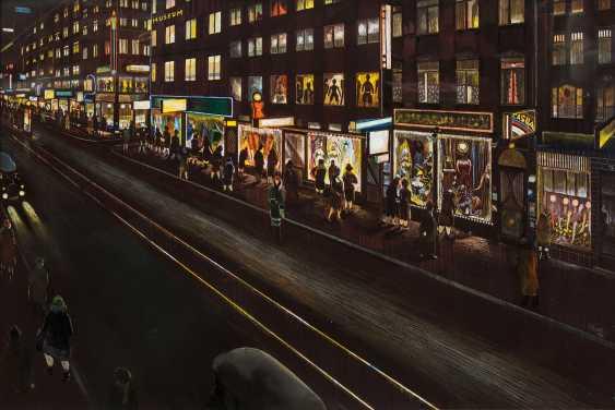 "NÄGELE, REINHOLD (Murrhardt 1884-1972 Stuttgart, Prof.), behind the glass of the picture ""Stuttgart street at night"", - photo 1"