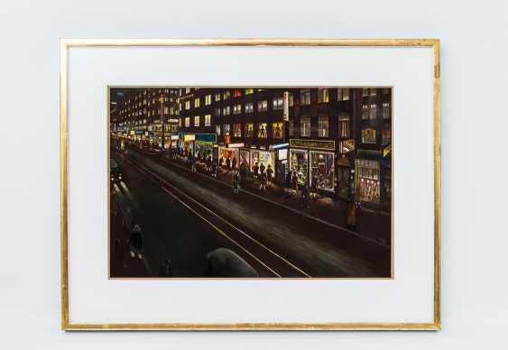 "NÄGELE, REINHOLD (Murrhardt 1884-1972 Stuttgart, Prof.), behind the glass of the picture ""Stuttgart street at night"", - photo 2"