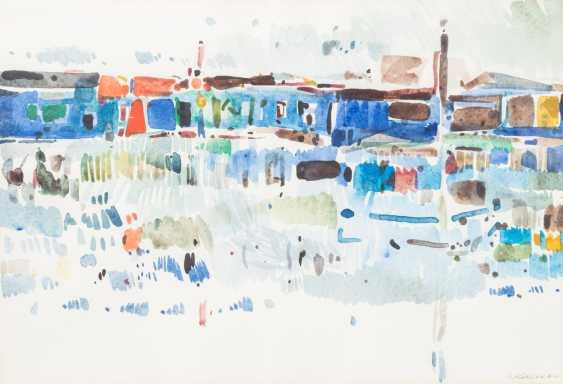 """KOLLER, OSKAR (1925-2004), """"Mediterranean port city"""" - photo 1"""