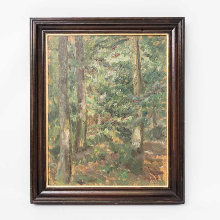 LEHMANN, ALFRED (1899-1979): view in a dense forest, 20. Century, - photo 2