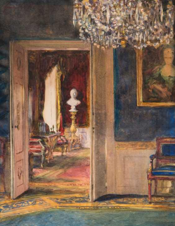 """HUTH, FRANZ (Pößneck 1876-1970 Weimar), """"castle interior"""", - photo 1"""