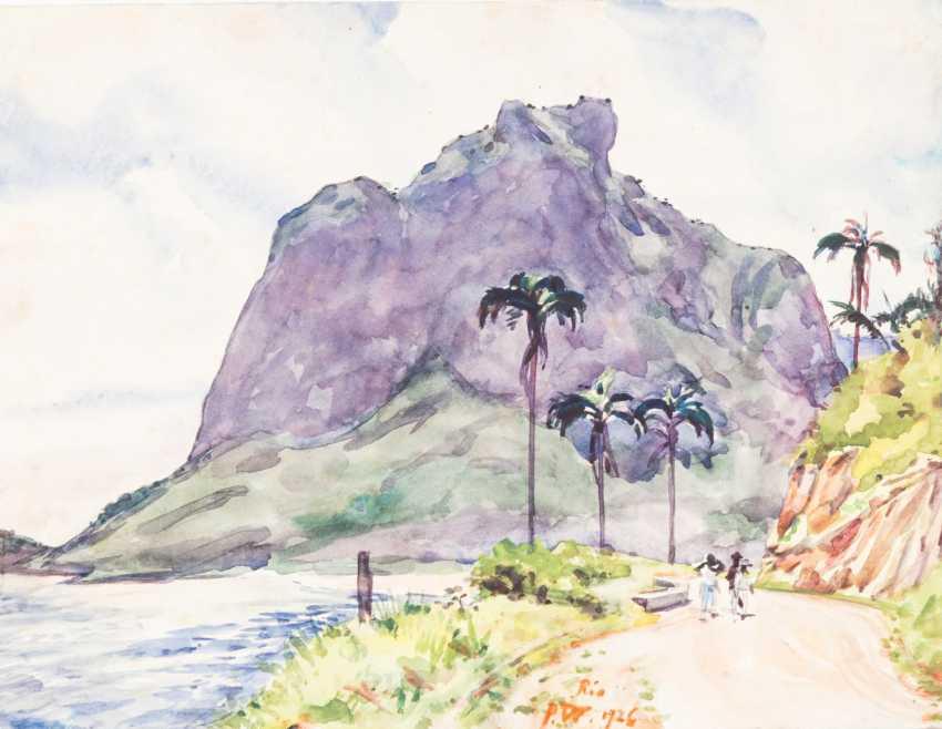 "GARDEN, PAUL (Erdmannsdorf in Stadtroda 1877-1967 Gera), ""Rio de Janeiro"", - photo 1"