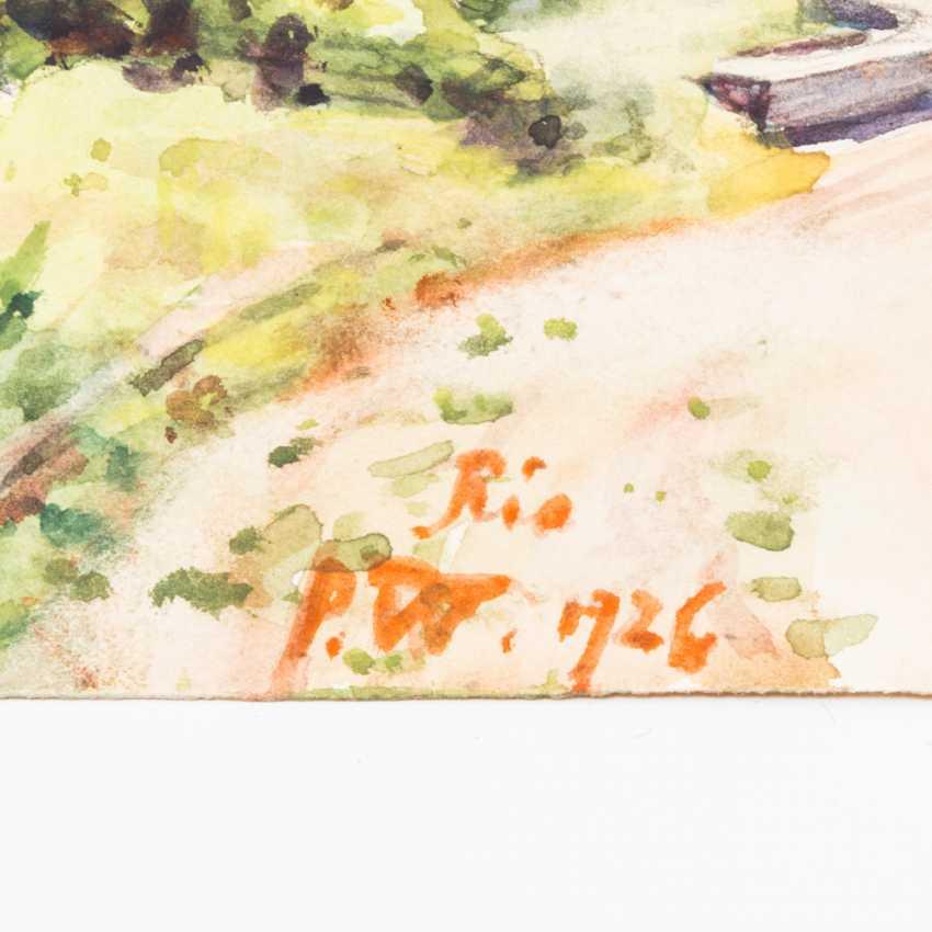 "GARDEN, PAUL (Erdmannsdorf in Stadtroda 1877-1967 Gera), ""Rio de Janeiro"", - photo 2"