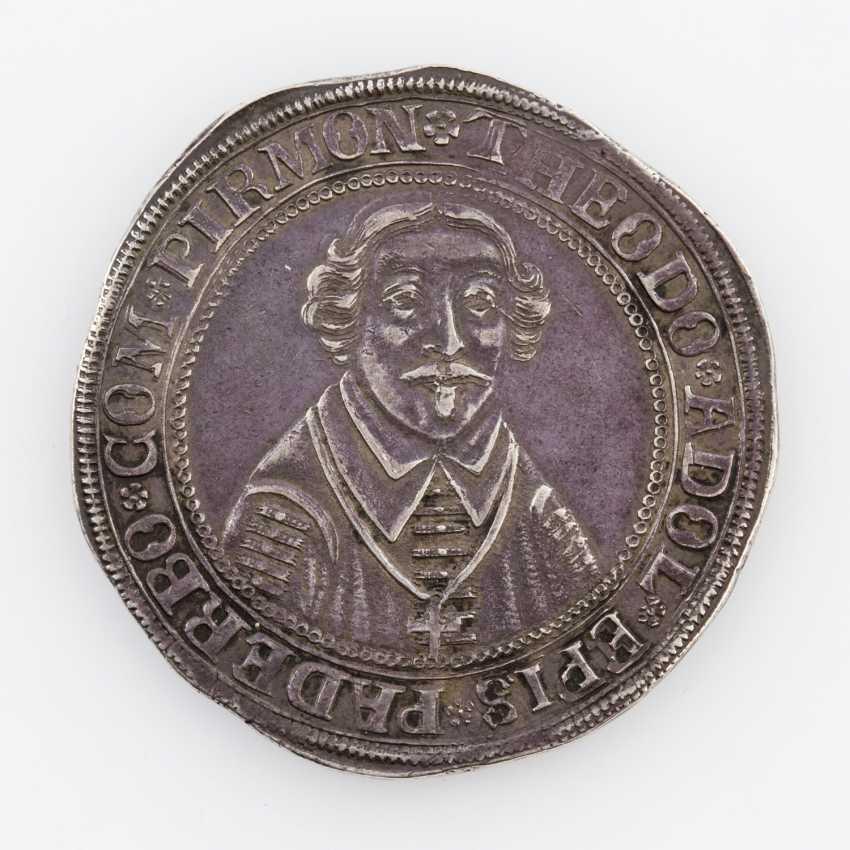 The bishopric of Paderborn - rich Thaler 1656, Theodor Adolf von der Recke, - photo 1