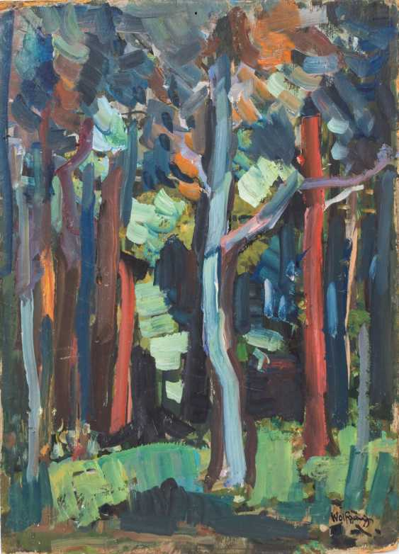 """WOLFGANG, ALEXANDER (1894-1970), """"the forest path in to the house"""", - photo 1"""