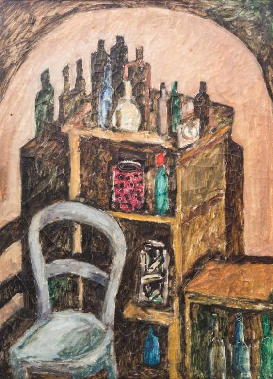 """KONZELMANN, DIETER (1938-2015, artists in Marbach), """"basement-interior"""", - photo 1"""
