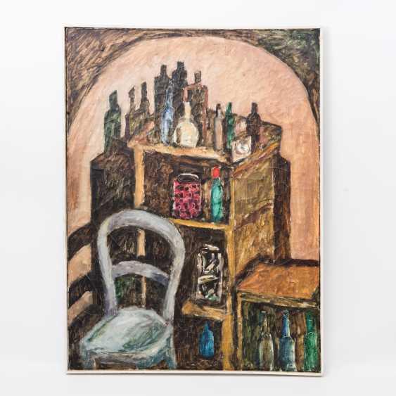 """KONZELMANN, DIETER (1938-2015, artists in Marbach), """"basement-interior"""", - photo 2"""