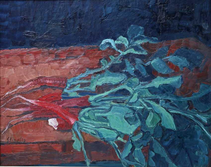"STIMPFIG, Jürgen (born 1955 in Heidenheim, Germany), ""still life with red Radishes"", - photo 1"