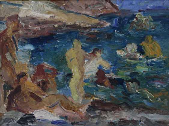 HENNINGER, MANFRED (Attrib.; 1894-1986): bathers on the island of Ibiza, 20. Century, - photo 1