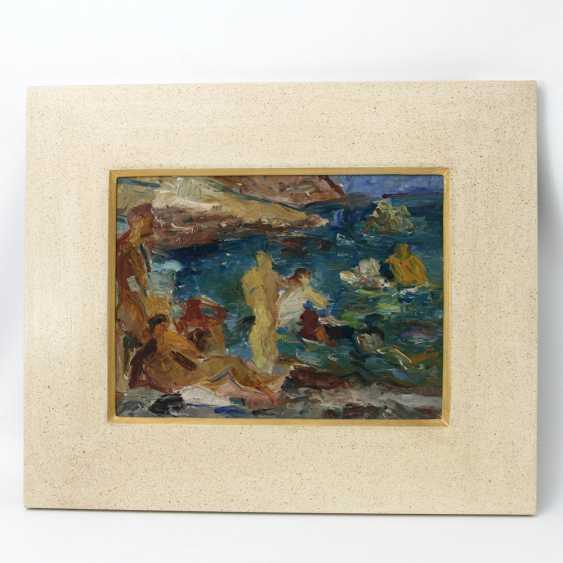HENNINGER, MANFRED (Attrib.; 1894-1986): bathers on the island of Ibiza, 20. Century, - photo 2