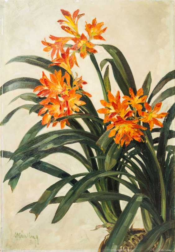 """KÄHLING, CURT (Meissen 1889-?, Pupil of the Dresden Academy), """"Blooming Lilies"""", - photo 1"""