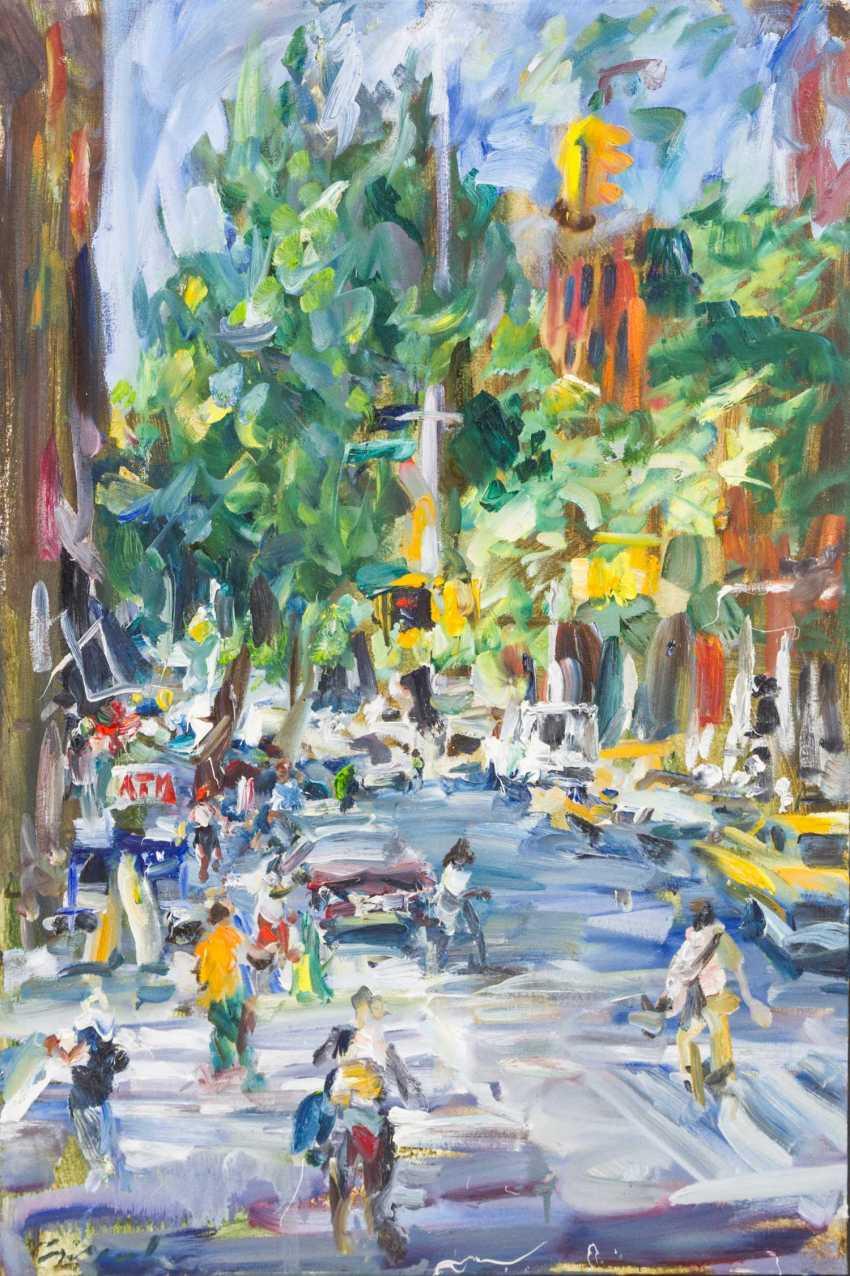 "LEIPPERT, JÜRosegoldEN (born in 1944 in Stuttgart, working at the same place), ""New York, Christopher and Hudson Street"", - photo 1"