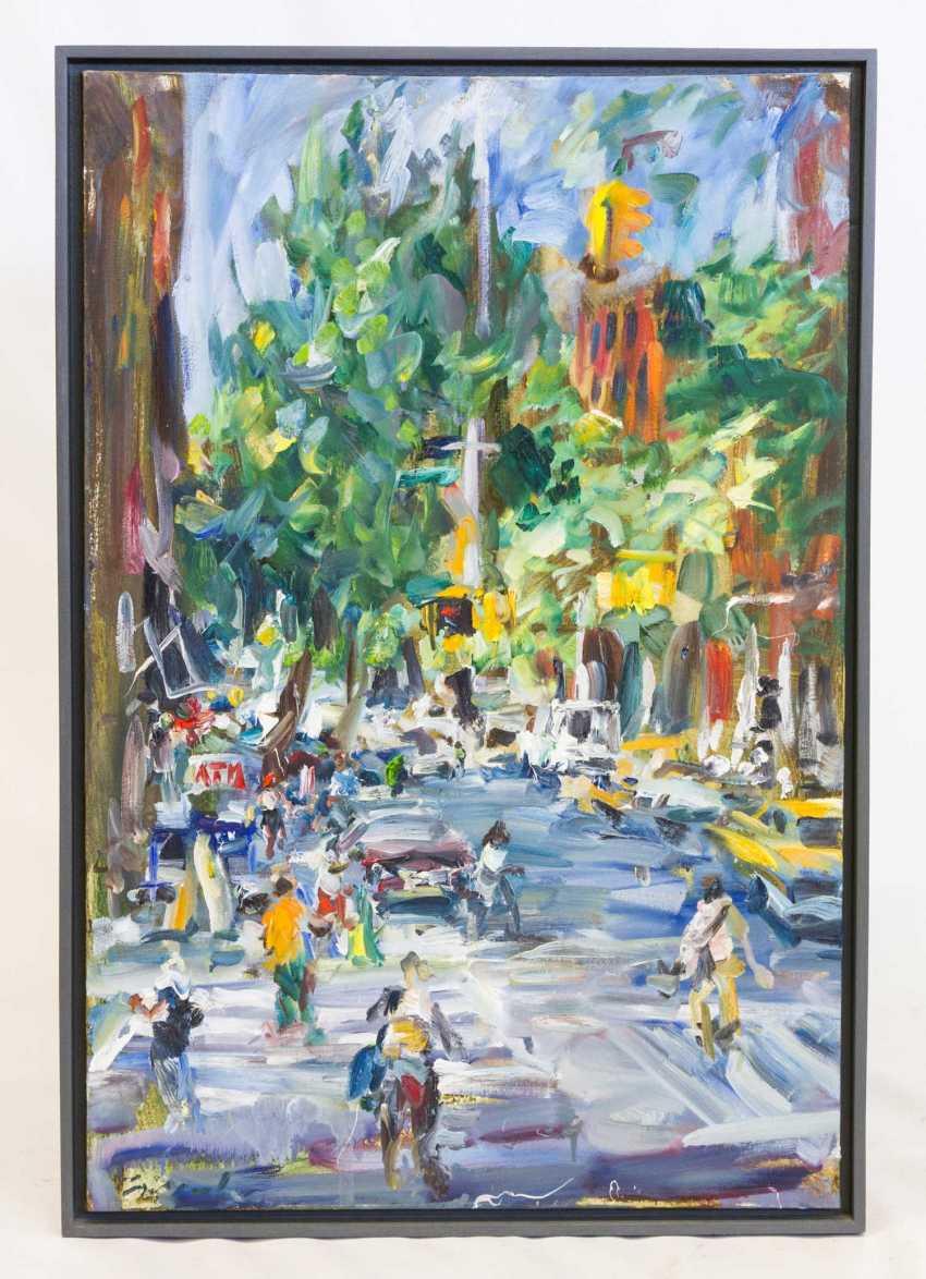 "LEIPPERT, JÜRosegoldEN (born in 1944 in Stuttgart, working at the same place), ""New York, Christopher and Hudson Street"", - photo 2"