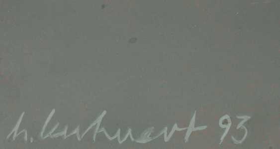 "KUHNERT, HORST (born in 1939), ""panel image red, blue, black"", - photo 2"