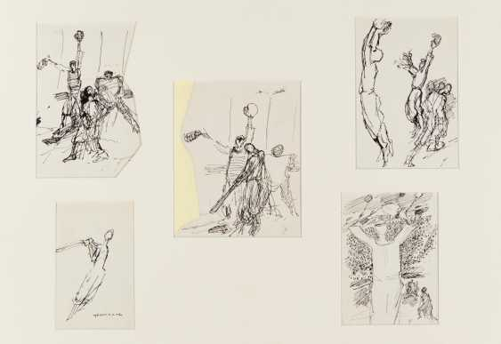 Collection of five ink drawings - photo 1