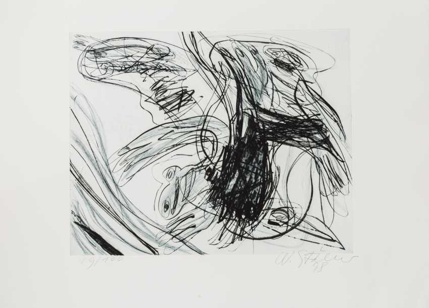"""STÖHRER, WALTER (1937-2000), """"head"""", Informal composition, - photo 1"""