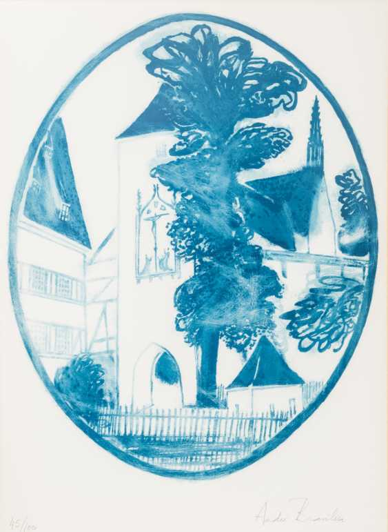 "BRAZIL, ANDRÉ (born in 1929), ""predecessor publication in an oval portion of the image"", - photo 1"