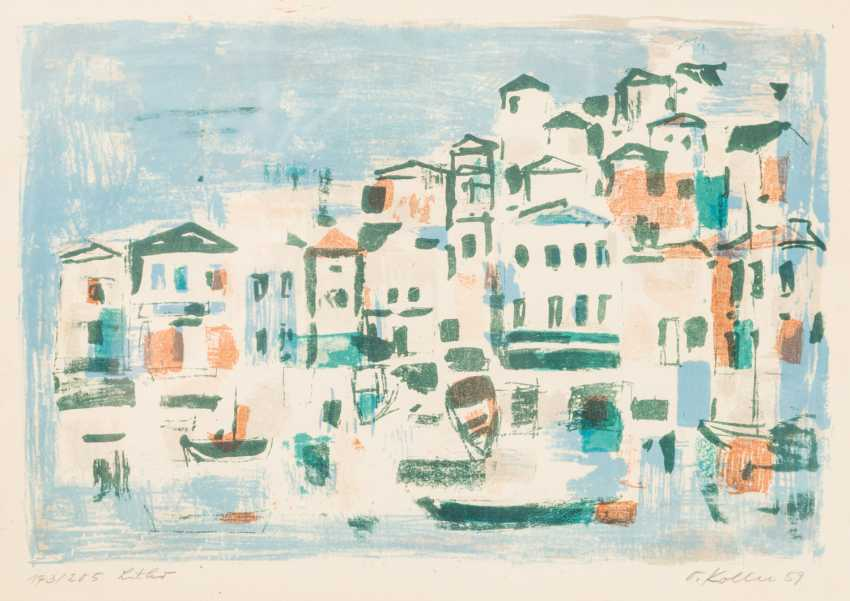 """KOLLER, OSKAR (1925-2004), """"Mediterranean port city"""", - photo 1"""
