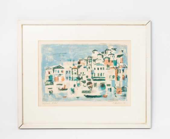 """KOLLER, OSKAR (1925-2004), """"Mediterranean port city"""", - photo 2"""