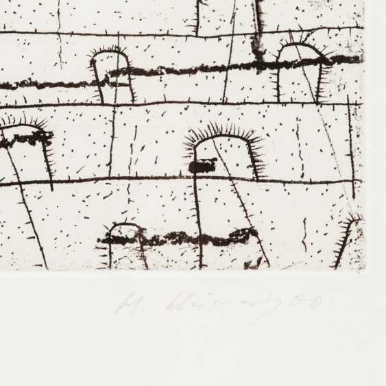 "SCHIMANSKY, HANNS (born 1949 in Bitterfeld, Prof.), ""Without title"", - photo 3"