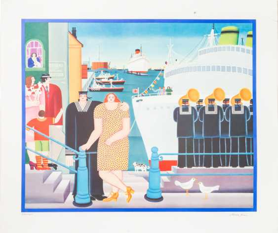 """KLOSS, MARY (born in 1940), """"Few in the harbour at the jetty"""", - photo 3"""