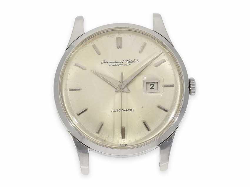 Montre-bracelet: rare, grand vintage Watch, Automatic IWC avec seconde centrale, de l'Acier, de Schaffhouse, 1963 - photo 1