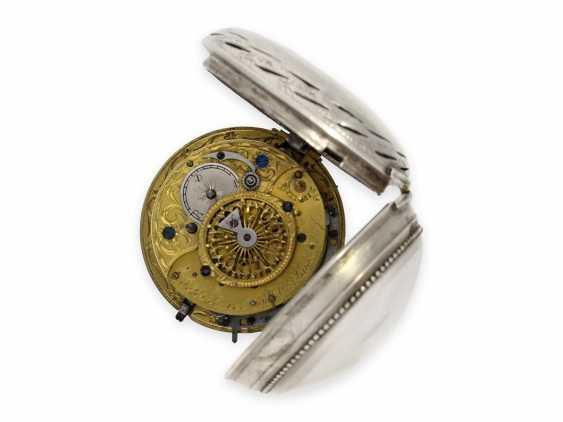 Карманные часы: исключительно крупные и редкие süddeutsche Spindeluhr с очень редкой a toc & a tact 1/8-репетир, Иоганн Riel в Stadtamhof (Regensburg), 1780-1820 - фото 3