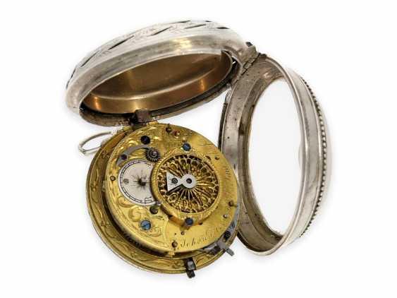 Карманные часы: исключительно крупные и редкие süddeutsche Spindeluhr с очень редкой a toc & a tact 1/8-репетир, Иоганн Riel в Stadtamhof (Regensburg), 1780-1820 - фото 4