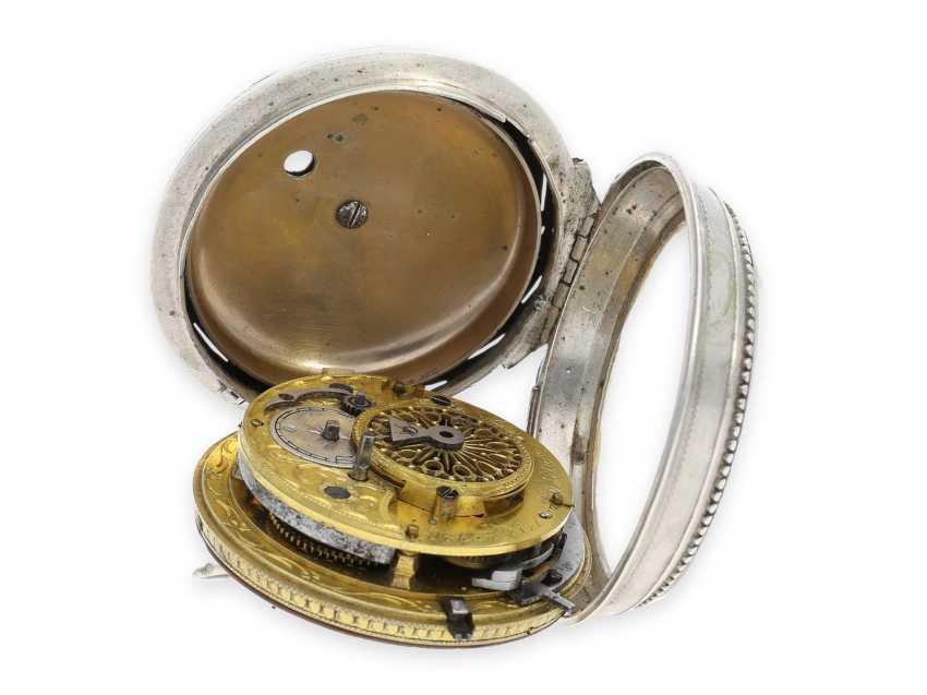 Карманные часы: исключительно крупные и редкие süddeutsche Spindeluhr с очень редкой a toc & a tact 1/8-репетир, Иоганн Riel в Stadtamhof (Regensburg), 1780-1820 - фото 5