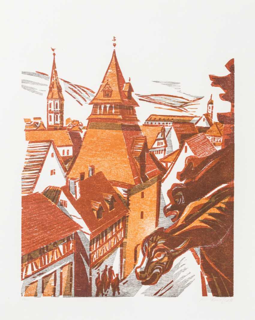 """BAUSCHERT, HEINER (1928-1986), """"Schwäbisch Gmünd"""", - photo 1"""