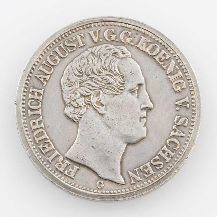 Saxony/Albertine Line - 1 Specimen-Mint Visit Thaler (Thick Piece) In 1839, - photo 1