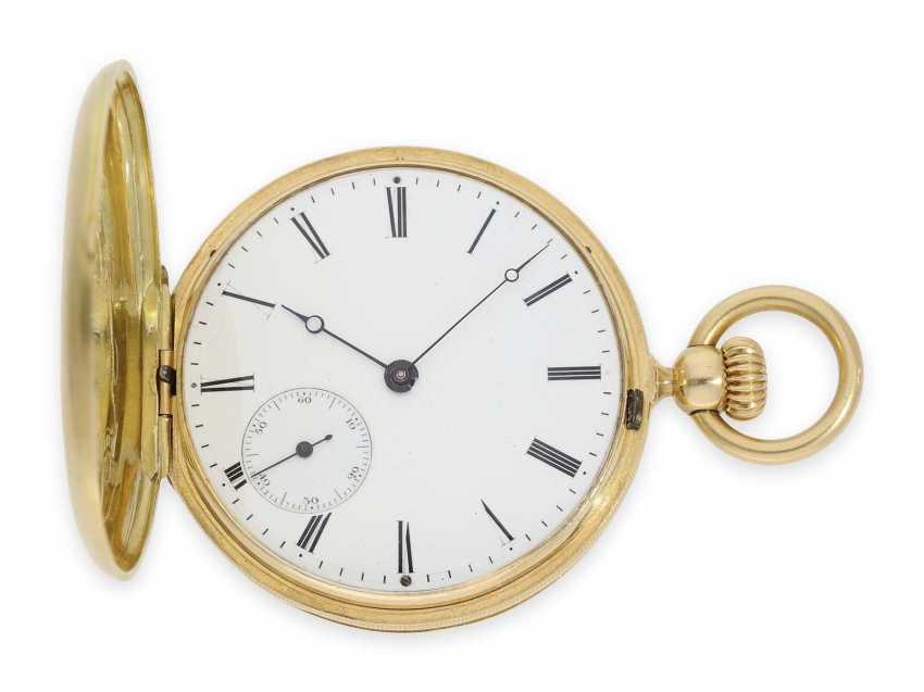 Карманные часы: исторически интересная Patek Philippe карманные часы № 7114, один из самых ранних производимых Patek Philippe Savonnetten с 1. Версия корона лифта разработана Adrien Philippe, Женева 1852 - фото 1