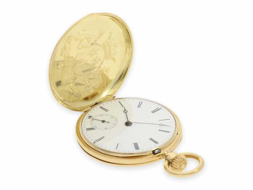 Карманные часы: исторически интересная Patek Philippe карманные часы № 7114, один из самых ранних производимых Patek Philippe Savonnetten с 1. Версия корона лифта разработана Adrien Philippe, Женева 1852 - фото 3