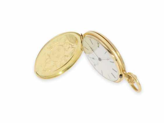 Карманные часы: исторически интересная Patek Philippe карманные часы № 7114, один из самых ранних производимых Patek Philippe Savonnetten с 1. Версия корона лифта разработана Adrien Philippe, Женева 1852 - фото 4