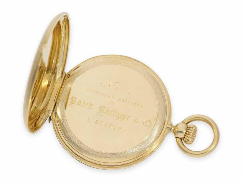 Карманные часы: исторически интересная Patek Philippe карманные часы № 7114, один из самых ранних производимых Patek Philippe Savonnetten с 1. Версия корона лифта разработана Adrien Philippe, Женева 1852 - фото 7
