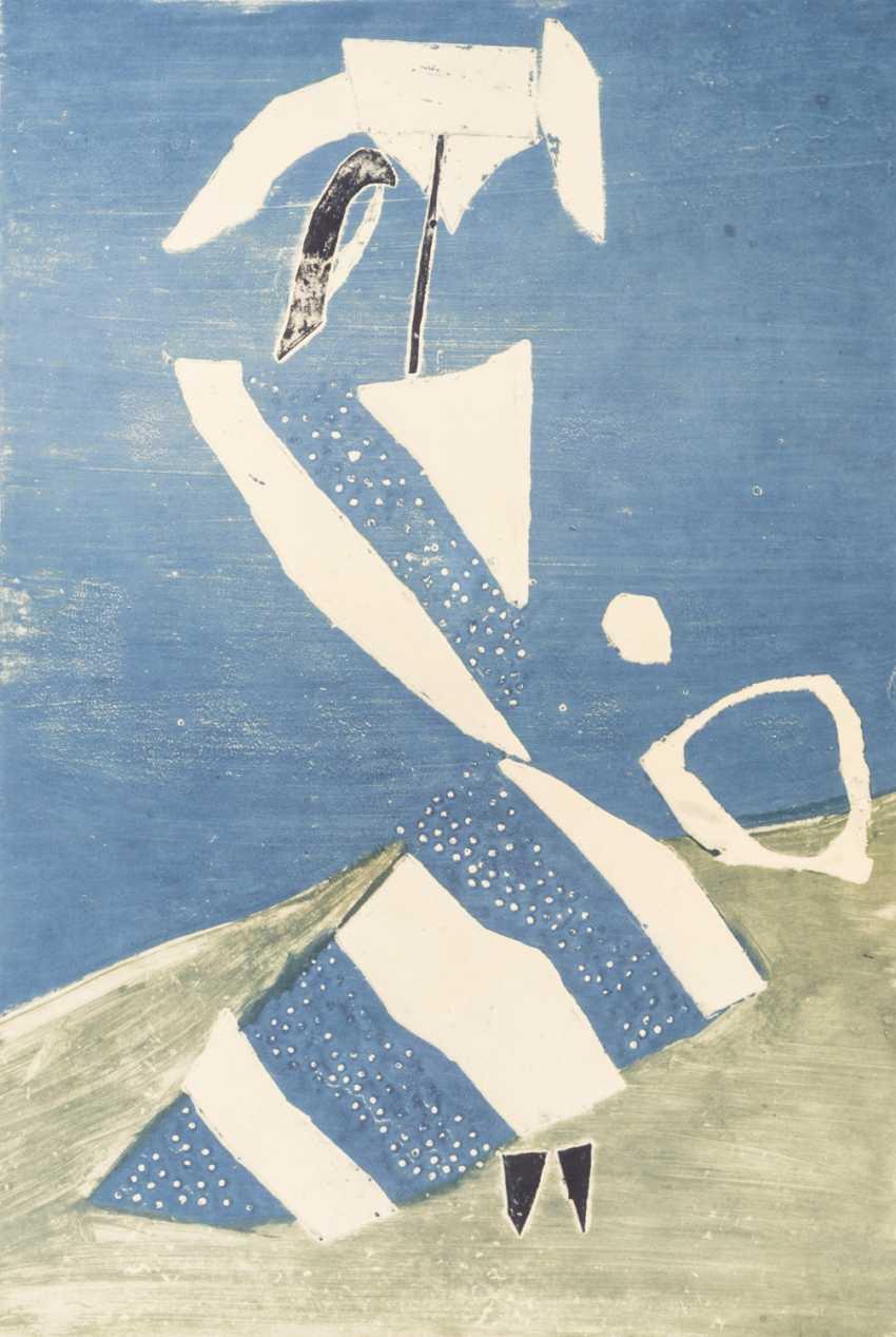 """НЭШ, ROLF (Эмиль Рудольф, верхняя Эсслинген/н. 1893-1975 Осло), """"женщина с зонтиком"""", - фото 1"""