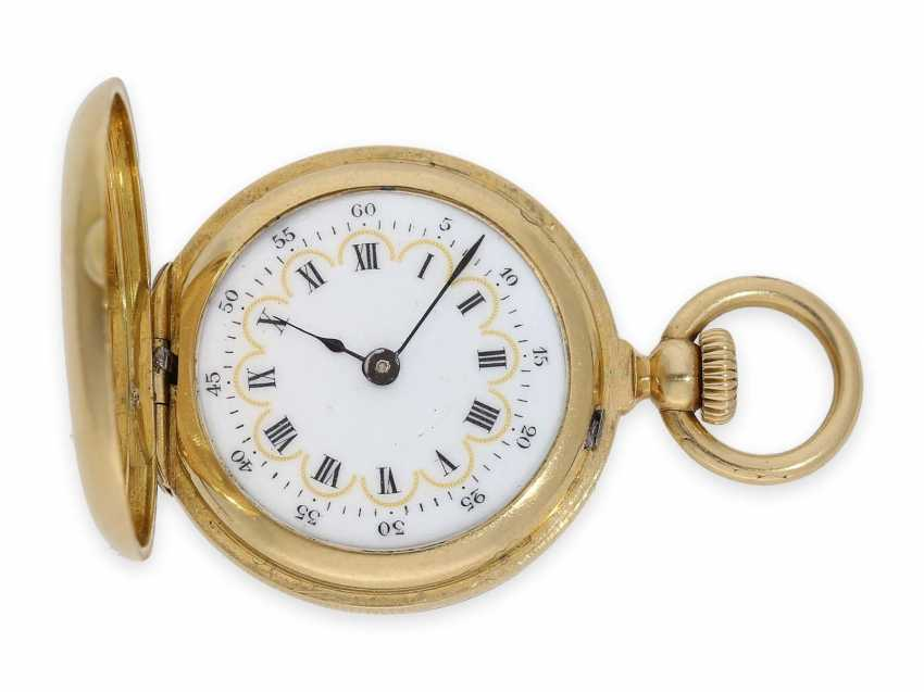 Pocket watch: the smallest known to us, Patek Philippe's half savonnette, with Gold/enamel case, No. 31335, CA. 1870 - photo 10