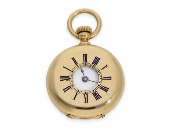 Pocket watch: the smallest known to us, Patek Philippe's half savonnette, with Gold/enamel case, No. 31335, CA. 1870 - photo 11