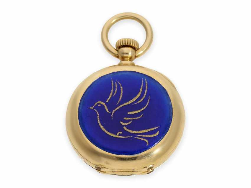 Pocket watch: the smallest known to us, Patek Philippe's half savonnette, with Gold/enamel case, No. 31335, CA. 1870 - photo 3