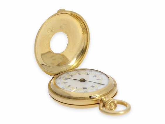 Pocket watch: the smallest known to us, Patek Philippe's half savonnette, with Gold/enamel case, No. 31335, CA. 1870 - photo 4
