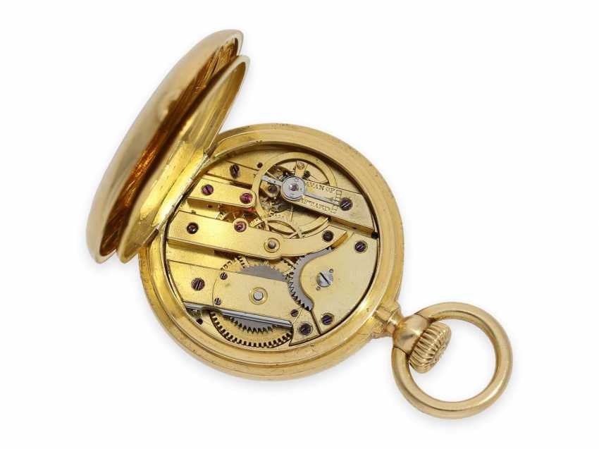 Pocket watch: the smallest known to us, Patek Philippe's half savonnette, with Gold/enamel case, No. 31335, CA. 1870 - photo 5