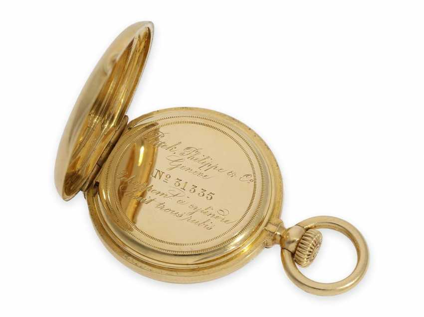 Pocket watch: the smallest known to us, Patek Philippe's half savonnette, with Gold/enamel case, No. 31335, CA. 1870 - photo 6
